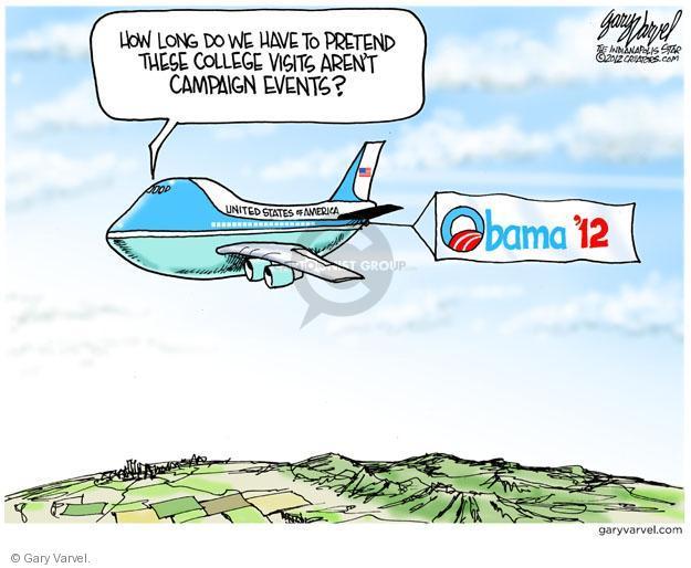 Cartoonist Gary Varvel  Gary Varvel's Editorial Cartoons 2012-04-27 airplane