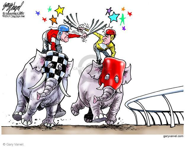 Cartoonist Gary Varvel  Gary Varvel's Editorial Cartoons 2012-05-06 2012 primary