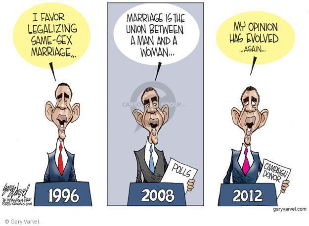 Cartoonist Gary Varvel  Gary Varvel's Editorial Cartoons 2012-05-11 favor