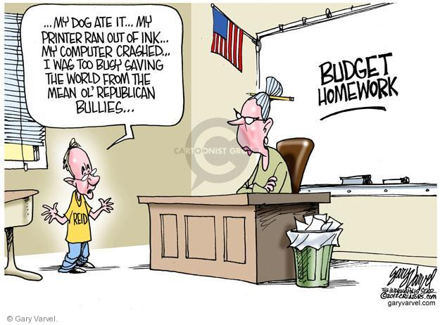 Gary Varvel  Gary Varvel's Editorial Cartoons 2012-05-20 senate majority leader