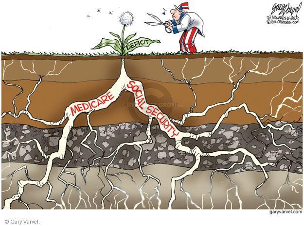 Cartoonist Gary Varvel  Gary Varvel's Editorial Cartoons 2012-05-25 social spending