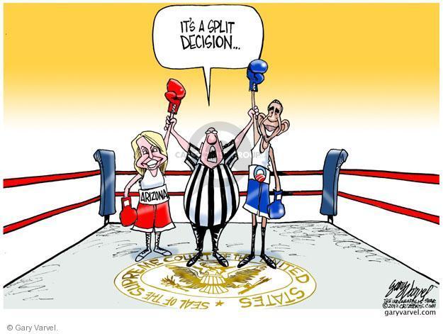 Gary Varvel  Gary Varvel's Editorial Cartoons 2012-06-26 Arizona immigration