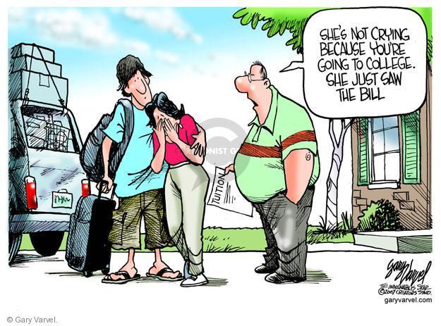 Cartoonist Gary Varvel  Gary Varvel's Editorial Cartoons 2012-08-10 college education
