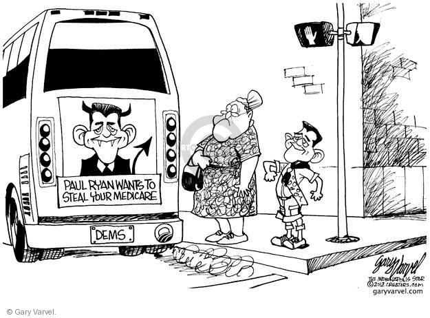 Cartoonist Gary Varvel  Gary Varvel's Editorial Cartoons 2012-08-14 Paul Ryan