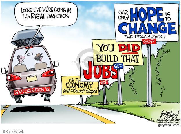Cartoonist Gary Varvel  Gary Varvel's Editorial Cartoons 2012-08-26 Republican National Committee