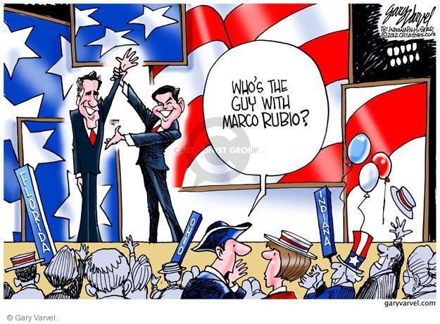 Cartoonist Gary Varvel  Gary Varvel's Editorial Cartoons 2012-08-30 republican convention