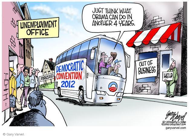 Cartoonist Gary Varvel  Gary Varvel's Editorial Cartoons 2012-09-04 unemployment