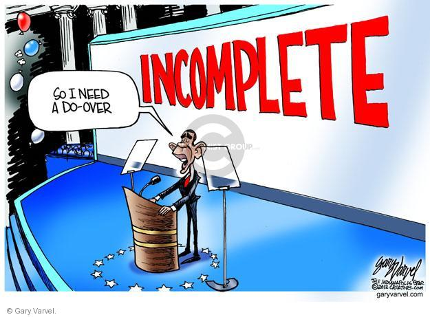 Gary Varvel  Gary Varvel's Editorial Cartoons 2012-09-06 2012 election economy