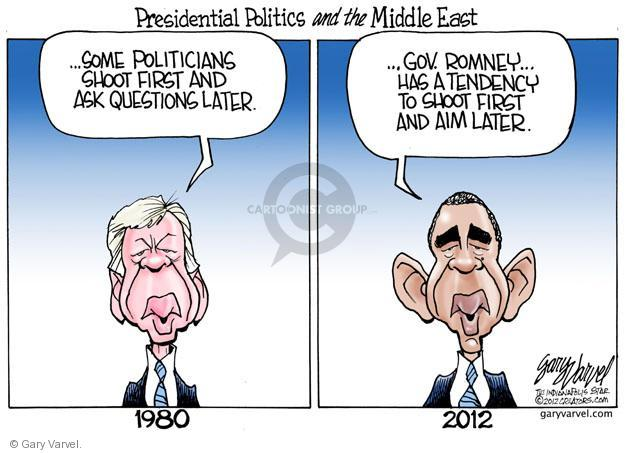 Cartoonist Gary Varvel  Gary Varvel's Editorial Cartoons 2012-09-14 Obama Romney