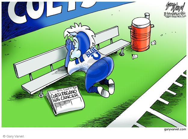 Gary Varvel  Gary Varvel's Editorial Cartoons 2012-10-02 cancer