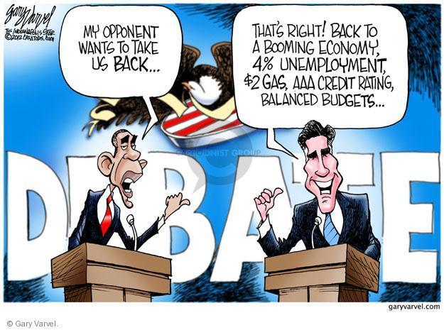 Cartoonist Gary Varvel  Gary Varvel's Editorial Cartoons 2012-10-03 Obama Romney