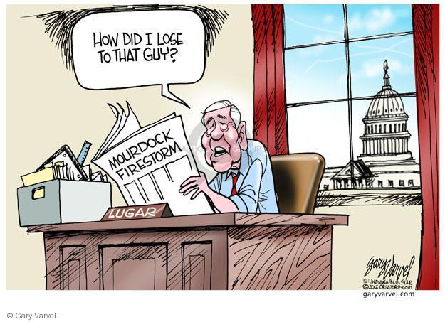 Cartoonist Gary Varvel  Gary Varvel's Editorial Cartoons 2012-10-26 2012 election