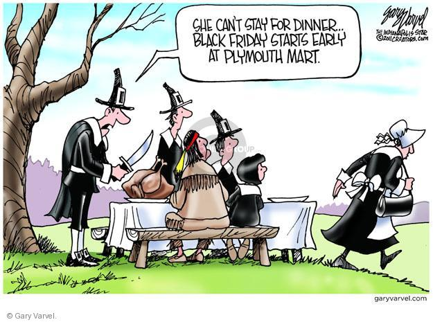 Cartoonist Gary Varvel  Gary Varvel's Editorial Cartoons 2012-11-22 Thanksgiving