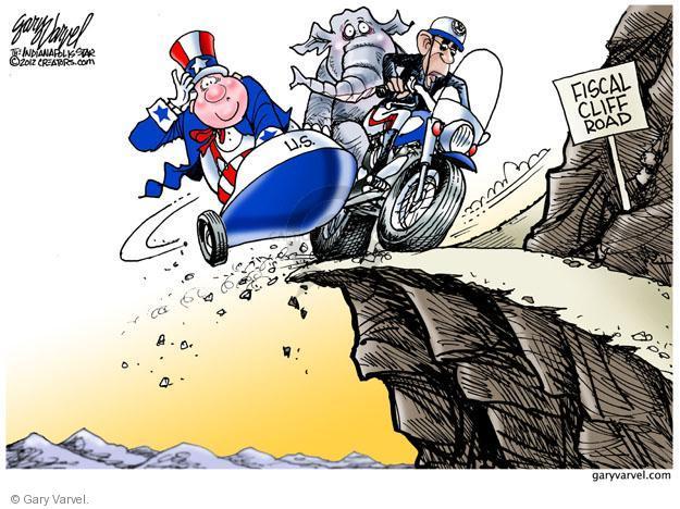 Cartoonist Gary Varvel  Gary Varvel's Editorial Cartoons 2012-11-25 Barack Obama Federal Budget