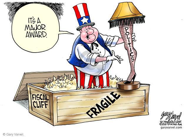 Gary Varvel  Gary Varvel's Editorial Cartoons 2012-12-13 fiscal cliff