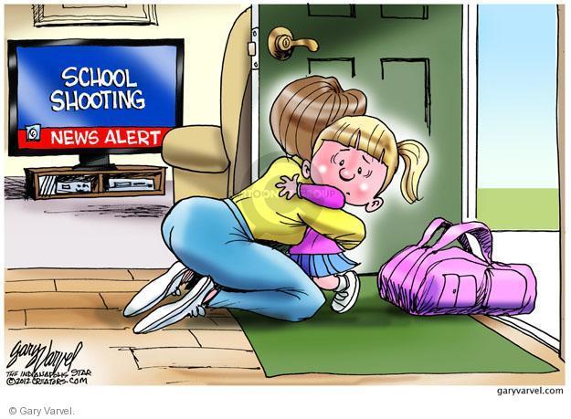Cartoonist Gary Varvel  Gary Varvel's Editorial Cartoons 2012-12-15 gun control