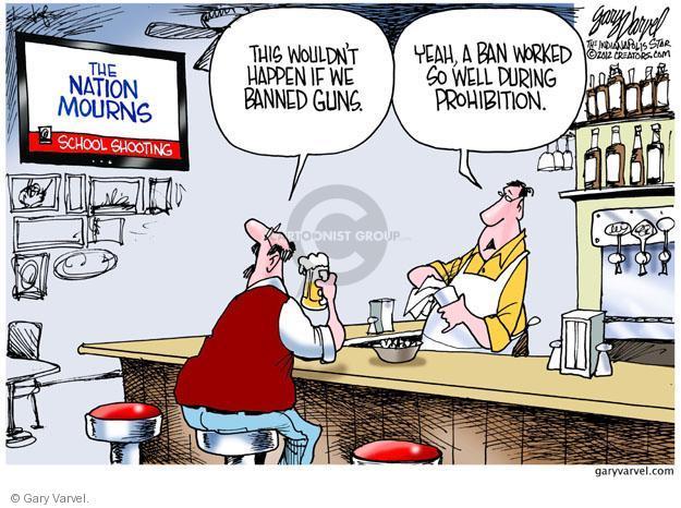 Cartoonist Gary Varvel  Gary Varvel's Editorial Cartoons 2012-12-18 gun death