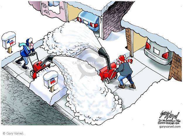 Cartoonist Gary Varvel  Gary Varvel's Editorial Cartoons 2013-01-06 dispute