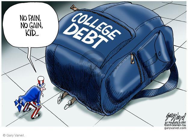 Cartoonist Gary Varvel  Gary Varvel's Editorial Cartoons 2013-02-06 college education