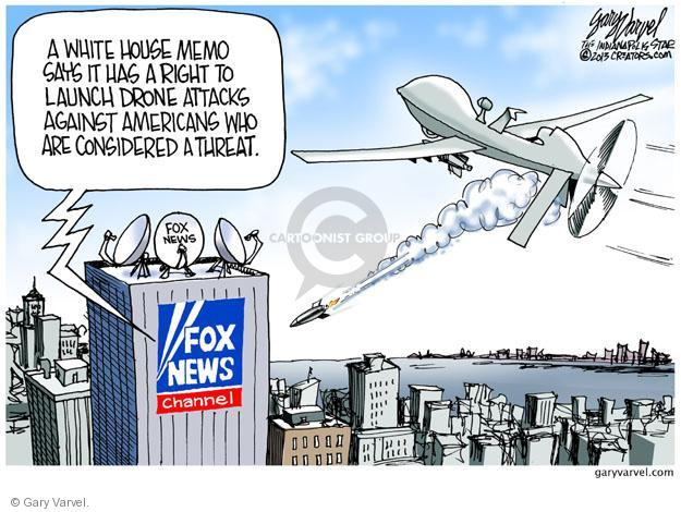 Cartoonist Gary Varvel  Gary Varvel's Editorial Cartoons 2013-02-08 attack