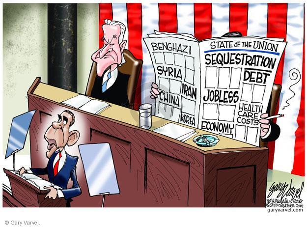 Cartoonist Gary Varvel  Gary Varvel's Editorial Cartoons 2013-02-12 Barack Obama debt