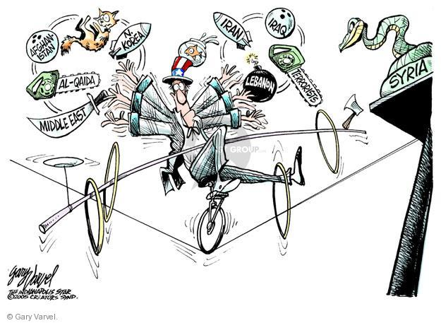 Cartoonist Gary Varvel  Gary Varvel's Editorial Cartoons 2013-03-14 Iran Iraq Syria