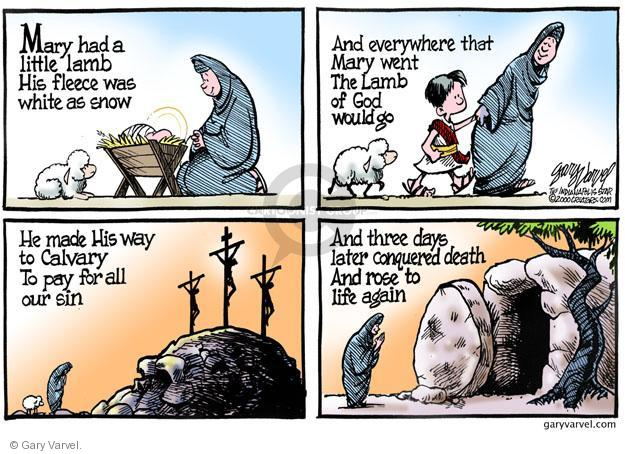 Cartoonist Gary Varvel  Gary Varvel's Editorial Cartoons 2013-03-31 resurrect