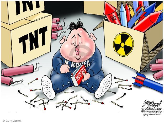 Cartoonist Gary Varvel  Gary Varvel's Editorial Cartoons 2013-04-10 North Korea
