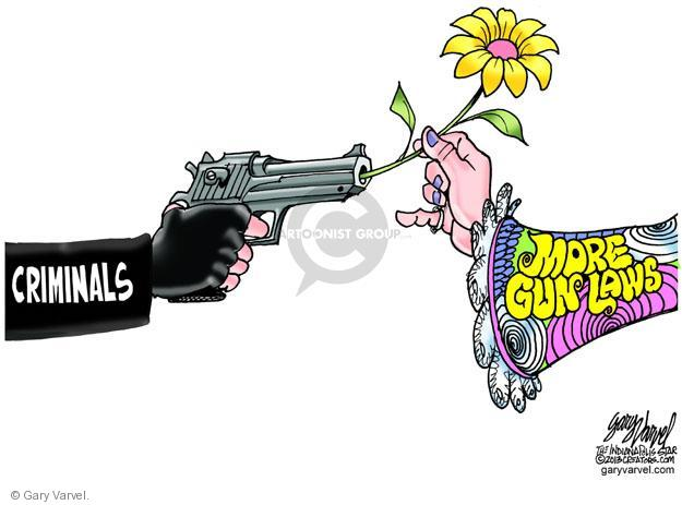 Cartoonist Gary Varvel  Gary Varvel's Editorial Cartoons 2013-04-23 assault weapon
