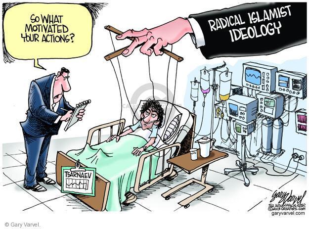 Cartoonist Gary Varvel  Gary Varvel's Editorial Cartoons 2013-04-24 Muslim