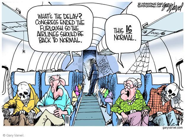 Cartoonist Gary Varvel  Gary Varvel's Editorial Cartoons 2013-04-30 airline