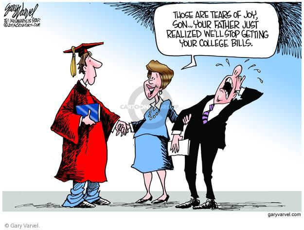 Cartoonist Gary Varvel  Gary Varvel's Editorial Cartoons 2013-05-03 graduate
