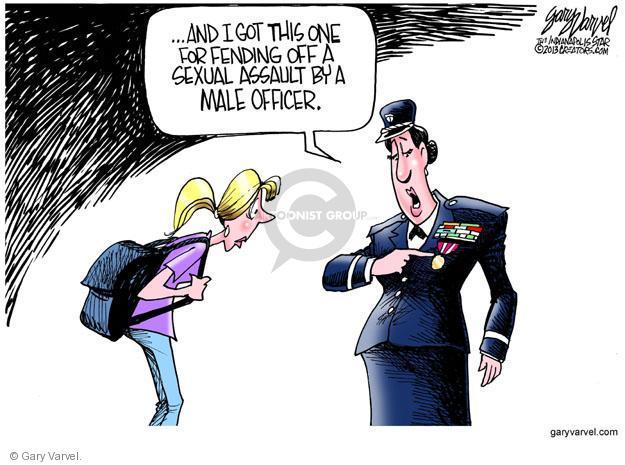 Cartoonist Gary Varvel  Gary Varvel's Editorial Cartoons 2013-05-10 officer
