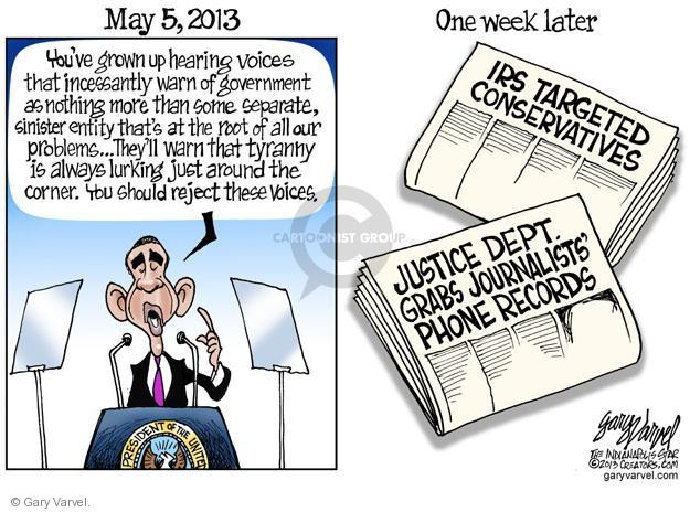 Cartoonist Gary Varvel  Gary Varvel's Editorial Cartoons 2013-05-15 investigation