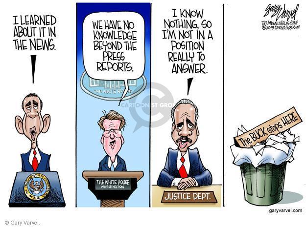 Cartoonist Gary Varvel  Gary Varvel's Editorial Cartoons 2013-05-17 press secretary