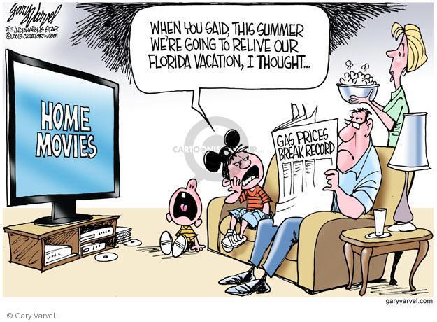Cartoonist Gary Varvel  Gary Varvel's Editorial Cartoons 2013-06-09 summer vacation