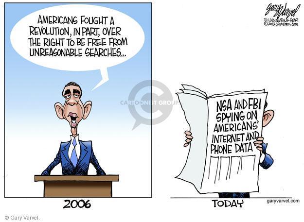 Cartoonist Gary Varvel  Gary Varvel's Editorial Cartoons 2013-06-10 revolution