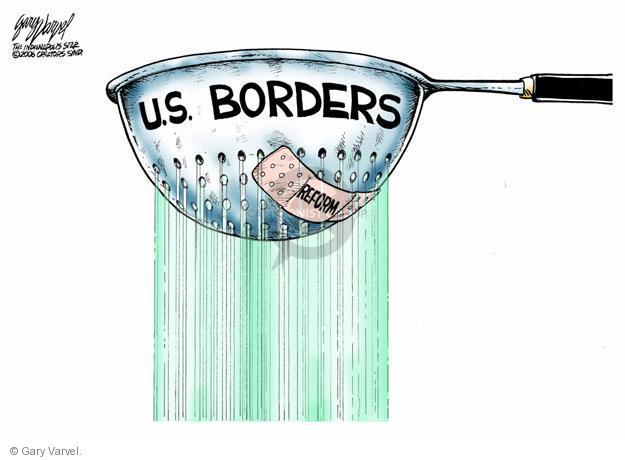 Cartoonist Gary Varvel  Gary Varvel's Editorial Cartoons 2013-06-12 immigrant