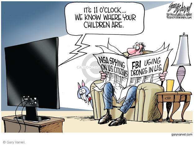 Cartoonist Gary Varvel  Gary Varvel's Editorial Cartoons 2013-06-21 investigation