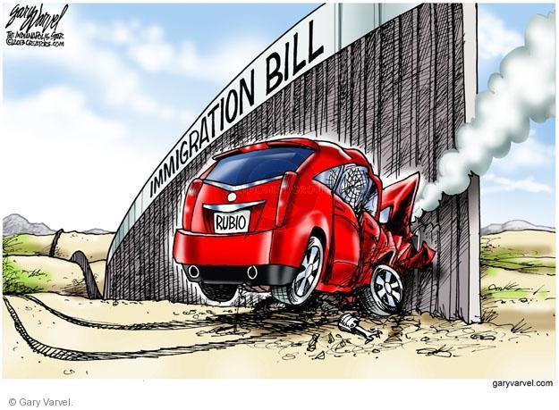 Cartoonist Gary Varvel  Gary Varvel's Editorial Cartoons 2013-06-26 immigrant