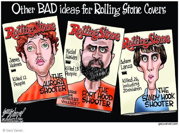 Cartoonist Gary Varvel  Gary Varvel's Editorial Cartoons 2013-07-19 Sandy Hook