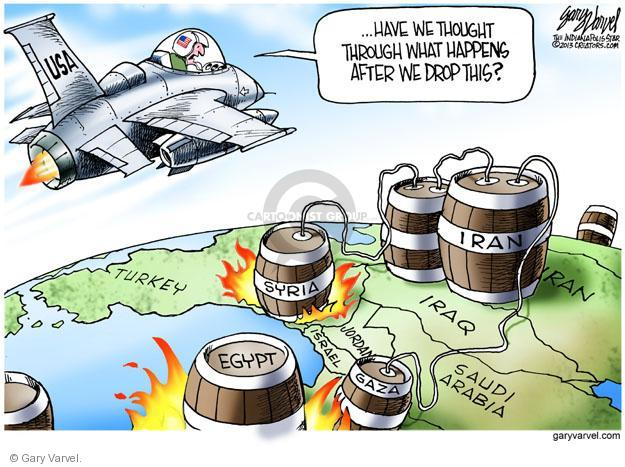 Cartoonist Gary Varvel  Gary Varvel's Editorial Cartoons 2013-08-29 Iran Iraq Syria