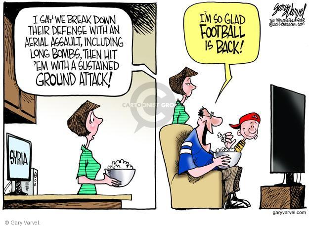 Cartoonist Gary Varvel  Gary Varvel's Editorial Cartoons 2013-09-06 attack
