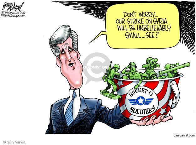 Cartoonist Gary Varvel  Gary Varvel's Editorial Cartoons 2013-09-10 Syria conflict