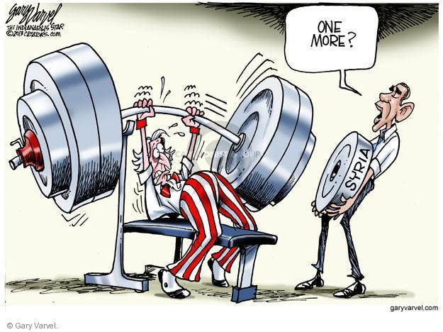 Gary Varvel  Gary Varvel's Editorial Cartoons 2013-09-09 weightlifting