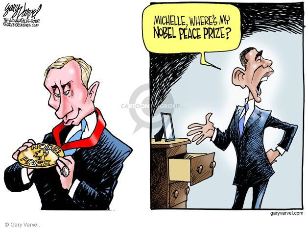 Gary Varvel  Gary Varvel's Editorial Cartoons 2013-09-12 peace