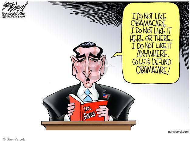 Cartoonist Gary Varvel  Gary Varvel's Editorial Cartoons 2013-09-26 congress health care