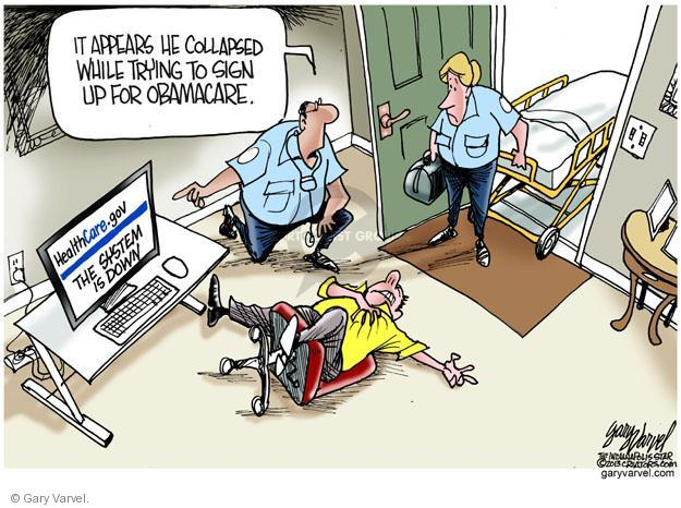Cartoonist Gary Varvel  Gary Varvel's Editorial Cartoons 2013-10-02 emergency