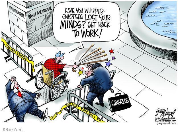 Cartoonist Gary Varvel  Gary Varvel's Editorial Cartoons 2013-10-03 World War II veteran