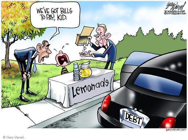 Cartoonist Gary Varvel  Gary Varvel's Editorial Cartoons 2013-10-06 Barack Obama debt
